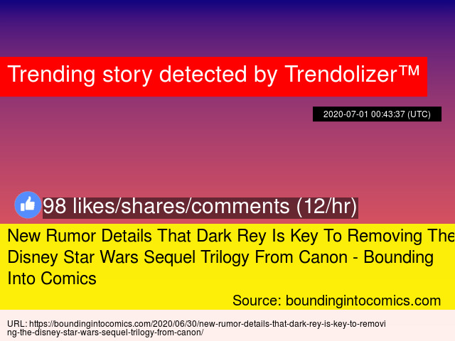 Wild 8216 Star Wars 8217 Rumor Claims Disney Will Erase The Sequel Trilogy And Reset Canon
