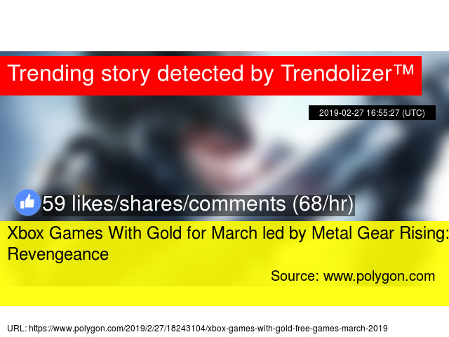 Xbox Games With Gold for March led by Metal Gear Rising