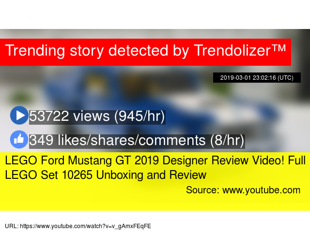 Lego Ford Mustang Gt  Designer Review Video Full Lego Set  Unboxing And Review