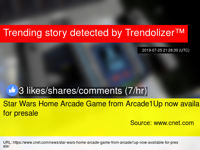 Star Wars Home Arcade Game from Arcade1Up now available for presale