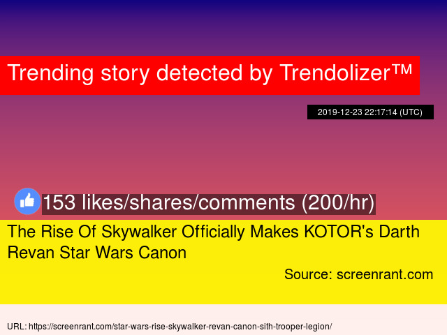 The Rise Of Skywalker Officially Makes Kotor S Darth Revan Star Wars Canon