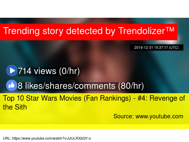 Top 10 Star Wars Movies Fan Rankings 4 Revenge Of The Sith