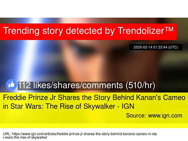 Freddie Prinze Jr Shares The Story Behind Kanan X27 S Cameo In Star Wars The Rise Of Skywalker Ign
