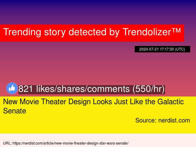 New Movie Theater Design Looks Just Like The Galactic Senate
