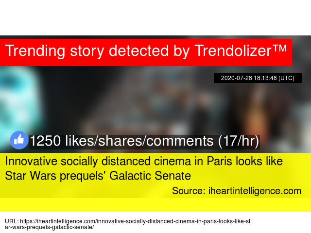 Innovative Socially Distanced Cinema In Paris Looks Like Star Wars Prequels 039 Galactic Senate