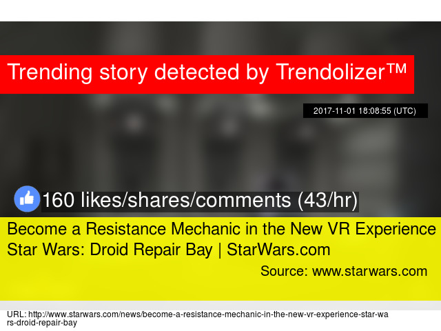 80c98b197d8 Become a Resistance Mechanic in the New VR Experience Star Wars  Droid  Repair Bay