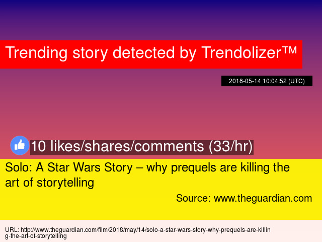 Solo: A Star Wars Story – why prequels are killing the art